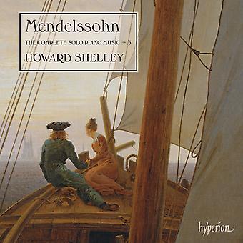 Mendelssohn, f el. / Shelley, Howard - Mendelssohn, f el. / Shelley, Howard: importación de Estados Unidos completa Solo Piano Music Vol.3 [CD]
