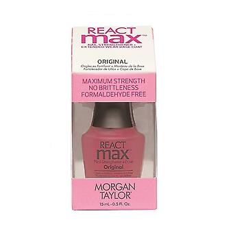 Morgan Taylor React Max Nail Strengthener + Extended Wear Base Coat – Original