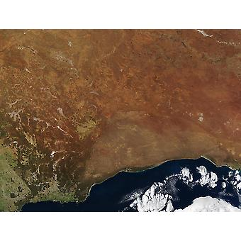 NASA - Australia from Space Poster Print Giclee