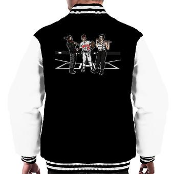 Pre Game Team Talk Walking Dead Inglorious Bastards Men's Varsity Jacket