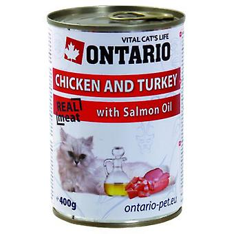 Ontario Cat Chicken / Turkey / Salmon Oil 400g (Cats , Cat Food , Wet Food)