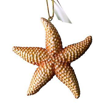 Tropiske Orange havet stjerne søstjerner Tiki Christmas Ornament 4 tommer