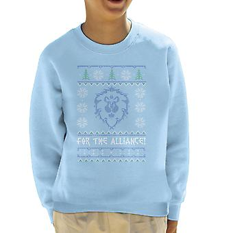 World Of Warcraft Alliance Lion Christmas Knit Kid's Sweatshirt