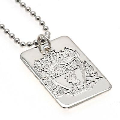 Liverpool Silver Plated Dog Tag & Chain