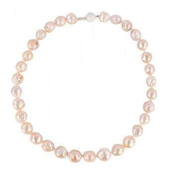 Pearl Aurora Large Snowball Freshwater Pearl Necklace - Peach