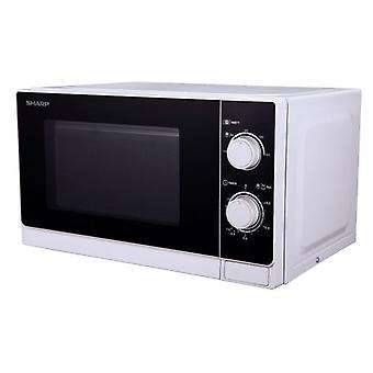Sharp Microwave 20L, Mechanical Control, 800W, White