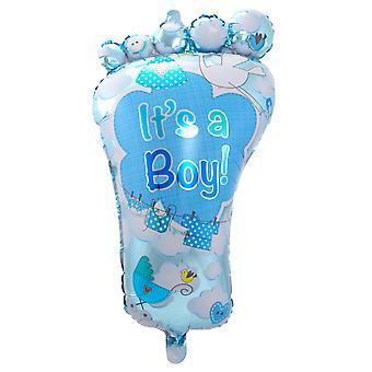 Foil balloon foot birth boy blue helium balloon 70 x 102 cm balloon