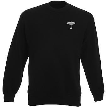 Spitfire sottomarino Fighter RAF WW2 ricamato Logo - Heavyweight Sweatshirt