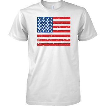 Estados Unidos agobiados Grunge efecto bandera diseño - niños T Shirt