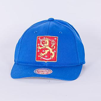 Mitchell & Ness World Cup Of Hockey Team Finlandia regolabile Backstrap tappo blu