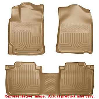 Husky Liners 98903 Tan WeatherBeater Front & 2nd Seat F FITS:TOYOTA 2012 - 2014