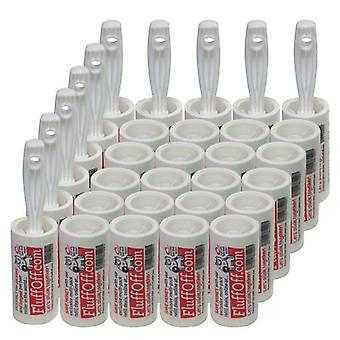 10x FluffOff Roller Brushes & 20x Refills total  225m of sticky paper