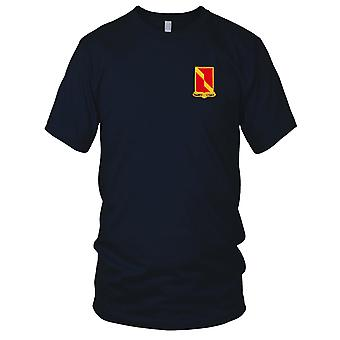 US Army - 27th Field Artillery Battalion Embroidered Patch - Mens T Shirt