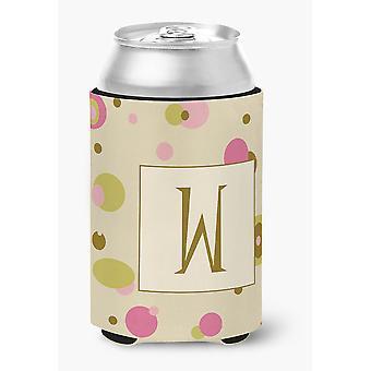 Буква W первоначальный вензель - Тан точки банки или бутылки напитков изолятор Hugger