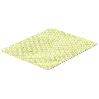 Gemoetric sirkler på grønne akvarell kjøkken eller bad matte 20 x 30