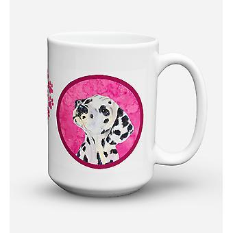 Dalmatian  Dishwasher Safe Microwavable Ceramic Coffee Mug 15 ounce SS4768
