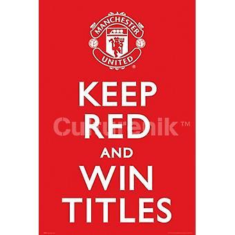 Manchester United holde røde plakat plakatutskrift