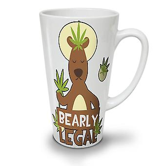 Bearly Legal 42 Funny NEW White Tea Coffee Ceramic Latte Mug 17 oz | Wellcoda