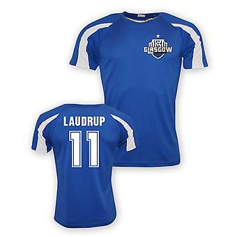 Brian Laudrup Rangers formation maillot de sport (bleu)