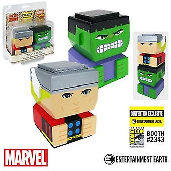 Thor & Hulk Classic Tiki Tiki Totem Set Ee Excl USA import