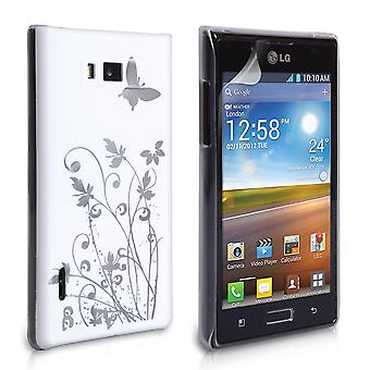 Yousave Accessories LG Optimus L7 Butterfly IMD Hard Case - White