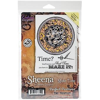 Sheena Douglass Perfect Partners Time Traveller Stamps-Make Time SD-PPS-MAKE