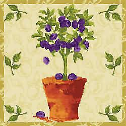 Plum Tree Needlepoint Kit