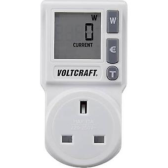 Energy consumption meter VOLTCRAFT EM 1000BASIC UK built-in child safety guard, Selectable energy tariffs, TMRS, Energy