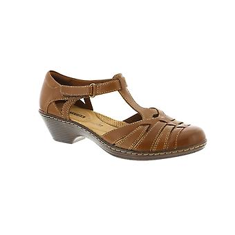 Clarks Wendy Alto - Tan Leather (Brown) Womens Shoes