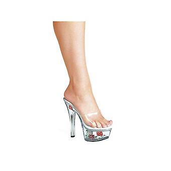 Ellie Shoes E-601-Poker 6 Heel  Mule With Dice & Poker Chips