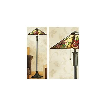 Interiors 1900 FB17-TG103SHL Lelani 2 Light Tiffany Floor Lamp With A