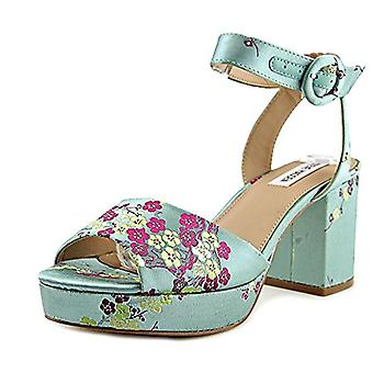 Steve Madden Womens Tickle Leather Open Toe Casual Ankle Strap Sandals