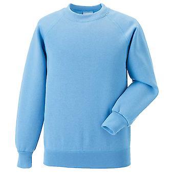 Russell Mens Raglan Long Sleeve Crew Neck Sweatshirt
