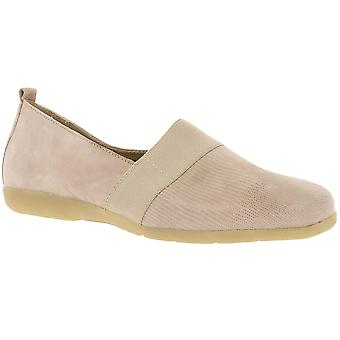 CAPRICE leather shoes Ladies slippers beige