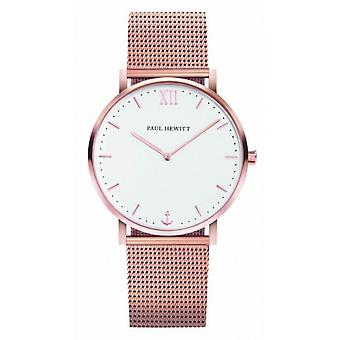 Paul Hewitt Miss Ocean Line Quartz Watch - Rose Gold/White