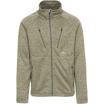 Trespass Mens Ramp Polyester Full Zip Knitted Marl Fleece Jacket Coat