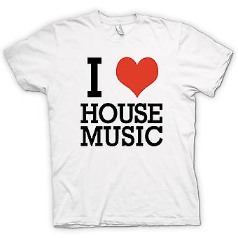 Mens T-shirt - I Love Heart House Music - DJ