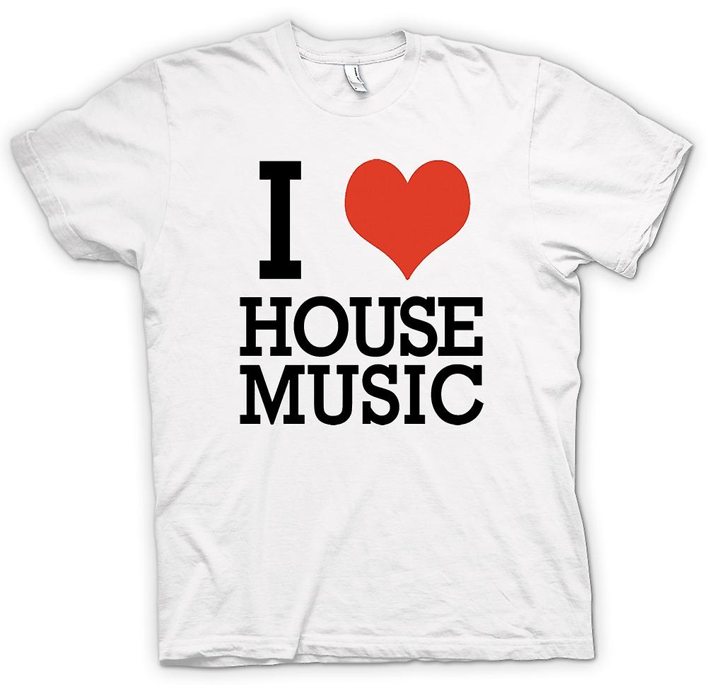 Womens T-shirt - I Love Heart House Music - DJ