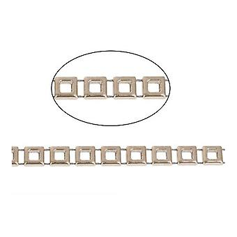 1.8m x Pale Gold Acrylic 9mm Closed Decorative Link Chain CH2250