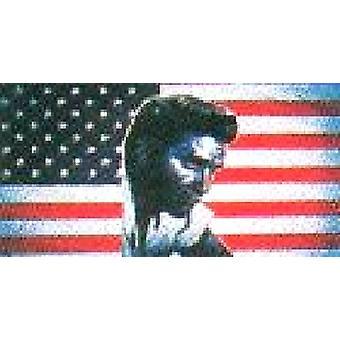 USA amerikanske 'Elvis' Flag 5 ft x 3 ft (100% Polyester) med snøreringe