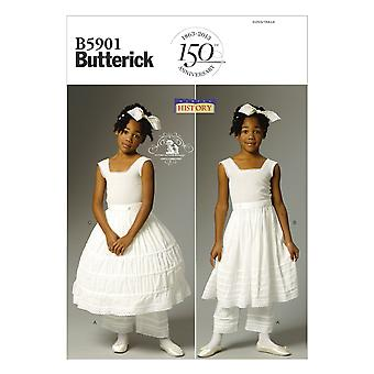 Children's/Girls' Drawers, Underskirt and Hoop Skirt-6-7-8 -*SEWING PATTERN*
