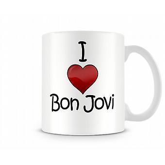 Amo Bon Jovi Stampato Mug