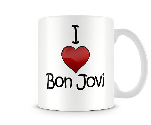 Jeg elsker Bon Jovi trykte krus