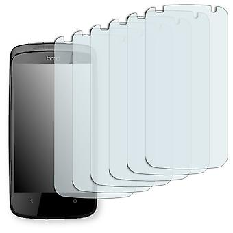 HTC 506e screen protector - Golebo crystal-clear protector (deliberately smaller than the display, as this is arched)