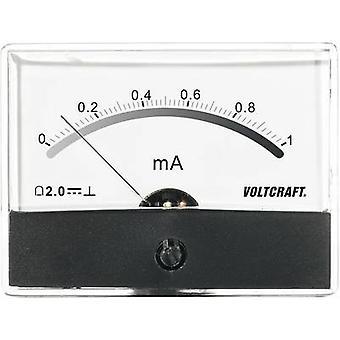 Analogue rack-mount meter VOLTCRAFT AM-86X65/1MA