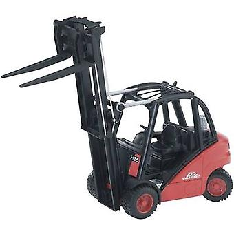 Brother Linde forklift trucks H30 D with trailer coupling and 2 pallets