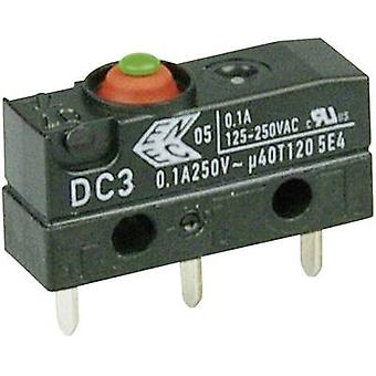 Cherry Switches Microswitch DC3C-H1AA 250 V AC 0.1 A 1 x On/(On) IP67 momentary 1 pc(s)