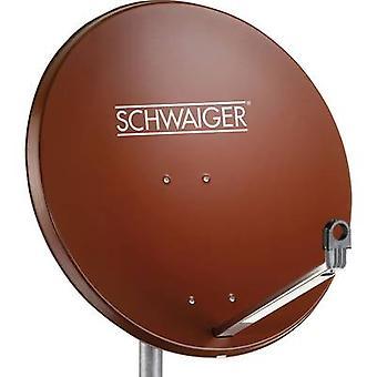 Schwaiger SPI998.2 SAT-Antenne 75 cm reflektierendes Material: Aluminium Ziegelrot