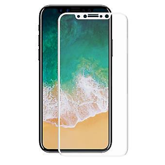 Protecteur d'écran d'Apple iPhone X verre blindé 3D film couvre les cas blanc