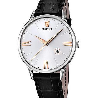 FESTINA - men's watch - F16824/2 - leather strap classic - classic